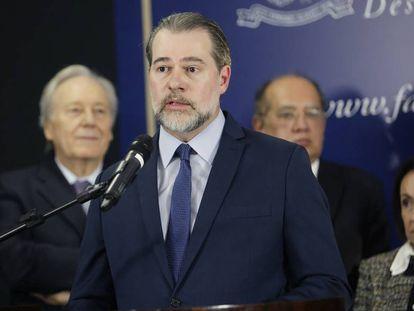 O presidente do Supremo, ministro Dias Toffoli, nesta quarta-feira.