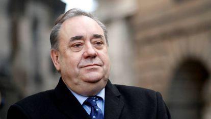 Alex Salmond em Edimburgo, em 8 de janeiro.