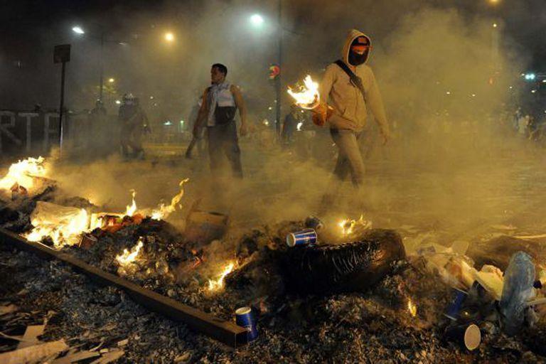 Protesto da quarta-feira em Caracas.