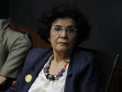 Marilena Chauí no ato anti-impeachment desta sexta.