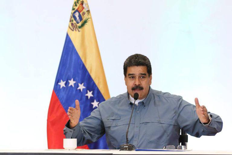 Nicolás Maduro em Caracas.