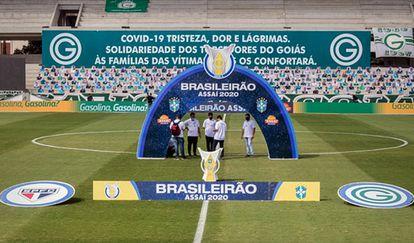 Jogo entre Goiás e São Paulo foi adiado por contágio de coronavírus.