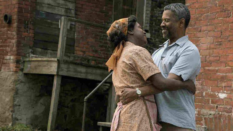 Viola Davis e Denzel Washington, em 'Fences'.