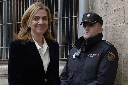 A infanta Cristina chega aos tribunais de Palma para declarar em 8 de fevereiro.