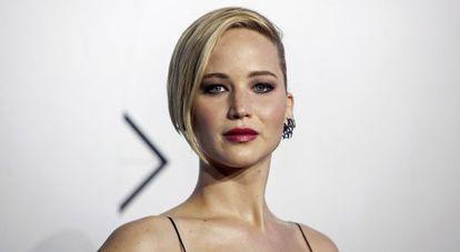 A atriz Jennifer Lawrence.