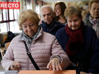 Ao vivo, colégio eleitoral de Madri.