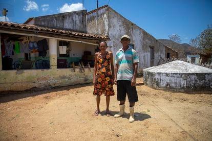 Francisco Monteiro e a esposa, Zuleide de Souza.