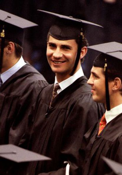 O Príncipe, na Universidade de Georgetown, em 1995.
