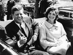 John F. Kennedy y su esposa Jacqueline en Washigton, durante su etapa en la Casa Blaca.