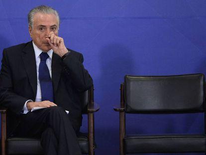 Michel Temer, na terça-feira em Brasília.