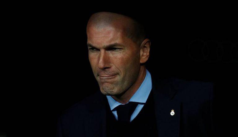 Zidane, durante o tropeço para o Leganés no Bernabéu.