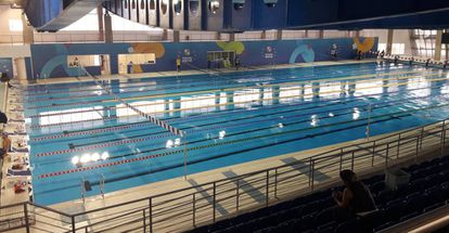 Estrutura de natação do Centro Paralímpico Brasileiro, na rodovia dos Imigrantes, em São Paulo.
