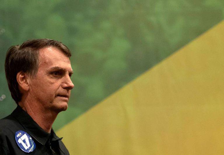 O candidato a presidente Jair Bolsonaro.