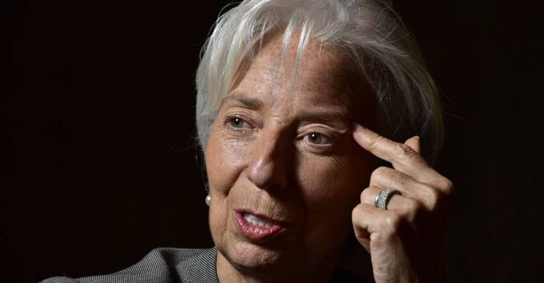 A diretora-gerente do FMI, Christine Lagarde, em Buenos Aires durante uma entrevista.