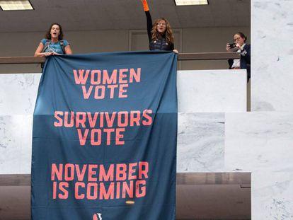 Protesto contra o nomeado de Trump à Suprema Corte, Brett Kavanaugh