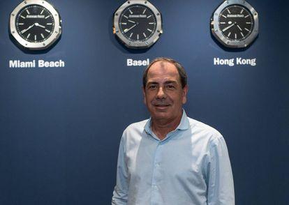 O brasileiro Luís Paulo Montenegro, na feira Art Basel Miami Beach, em dezembro. A partir de 20 de fevereiro, expõe sua coleção pela primeira vez na mostra 'Visões da Terra / O Mundo Planejado', na Sala da Arte da Fundação Banco Santander em Boadilla del Monte (Madrid).