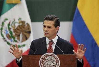 O presidente Enrique Peña Neto, na sexta-feira.
