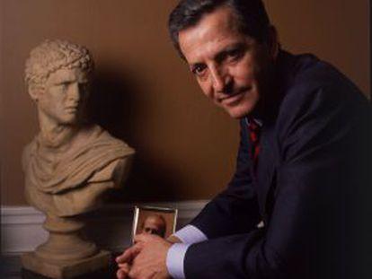 Suárez, em seu escritório em 1991.