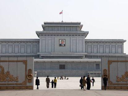 Mausoléu da Kim Il-sung em Pyongyang.