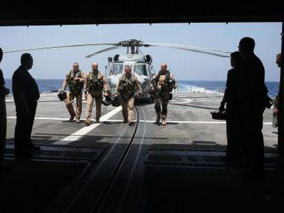 Um grupo da Marinha espanhola.