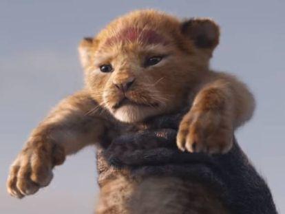 Nova versão de Simba, revelado em trailer divulgado pela Disney.