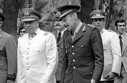 Ditadores Pinochet (Chile) e Videla (Argentina)