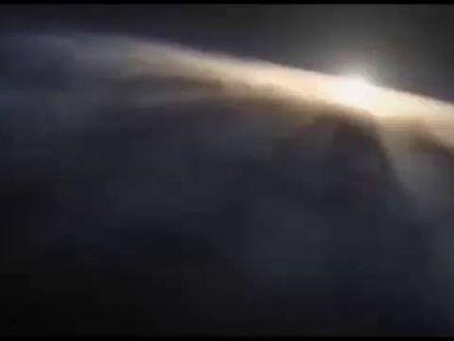 Imagem da simulação do Big Bang.