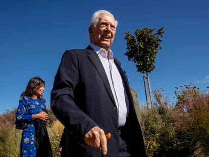Mario Vargas Llosa, nesta sexta-feira, num evento cultural em San Lorenzo del Escorial (Madri).