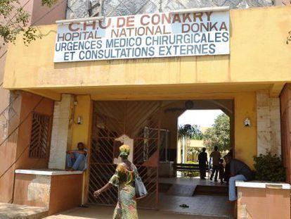 Um hospital de Conacri onde houve quatro casos de ebola.