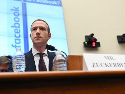 O fundador do Facebook, Mark Zuckerberg, no Congresso dos Estados Unidos, em outubro de 2019.