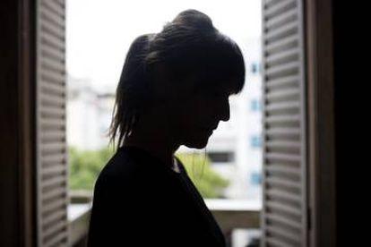 Mariana D. em sua casa em Buenos Aires