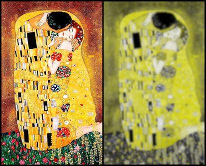 'O beijo', de Klimt.