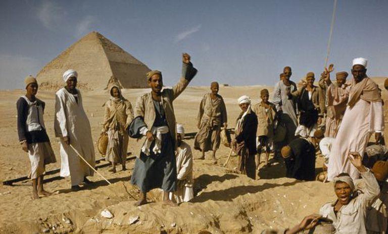 Escavações no jazigo de Dahshur.