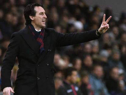 Unai Emery, atual técnico do Paris Saint-Germain.