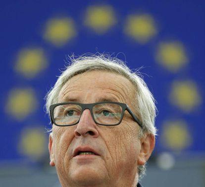 O presidente da Comissão Europeia, Jean-Claude Juncker, durante seu discurso sobre o estado da União