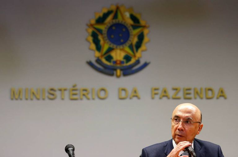 Brazil's Finance Minister Henrique Meirelles attends a news conference in Brasilia, Brazil, May 13, 2016.  REUTERS/Paulo Whitaker