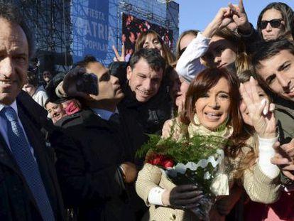 Cristina Fernández de Kichner, com Daniel Scioli.