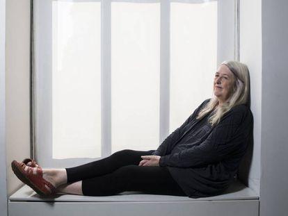 A acadêmica inglesa Mary Beard fotografada em Madri