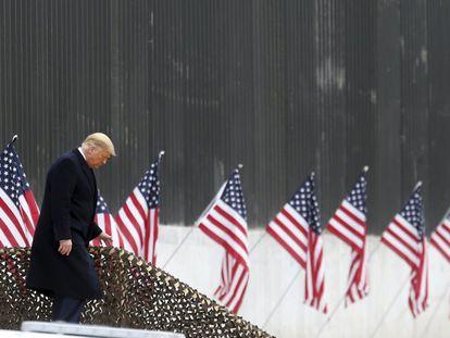 O presidente Donald Trump, na terça-feira no Texas.
