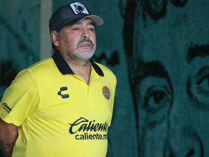 Diego Armando Maradona, como treinador dos Dourados de Sinaloa.