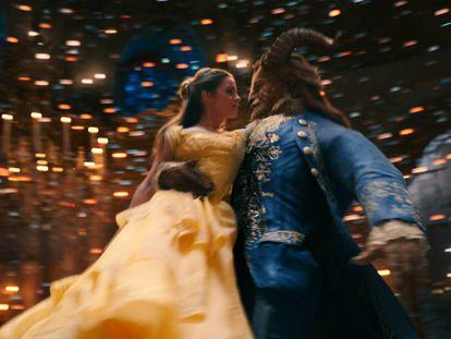 Frame do filme 'A Bela e a Fera'.
