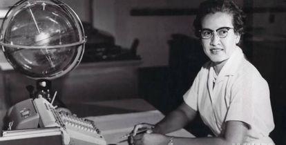 Katherine Johnson, na NASA, em 1966