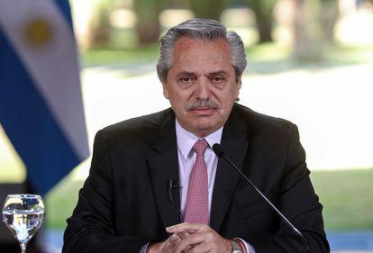 Alberto Fernández, presidente da Argentina, em uma imagem de julho de 2020.