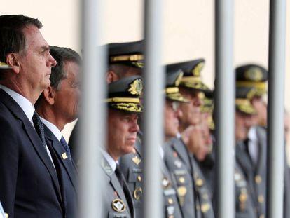 O presidente eleito Jair Bolsonaro, na formatura da Academia Militar das Agulhas Negras, em 1º de dezembro em Rezende (RJ).