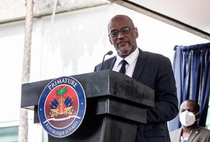 O primeiro-ministro do Haiti, Ariel Henry, em julho passado em Porto Príncipe.