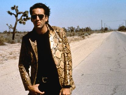 Nicolas Cage no perturbador 'Coração Selvagem' dirigido por David Lynch, em 1990.