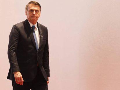 Jair Bolsonaro em Osaka, no Japão.