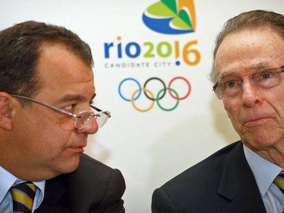 Sérgio Cabral (à esq.) diz que Nuzman mediou acordo de compra de votos para o Rio.