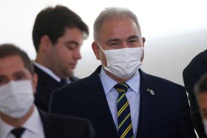 O ministro da Saúde, Marcelo Queiroga, participa de cerimônia no Palácio do Planalto em 2 de setembro.