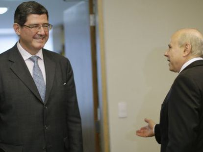 Futuro ministro da Fazenda, Levy encontrou o titular, Mantega.
